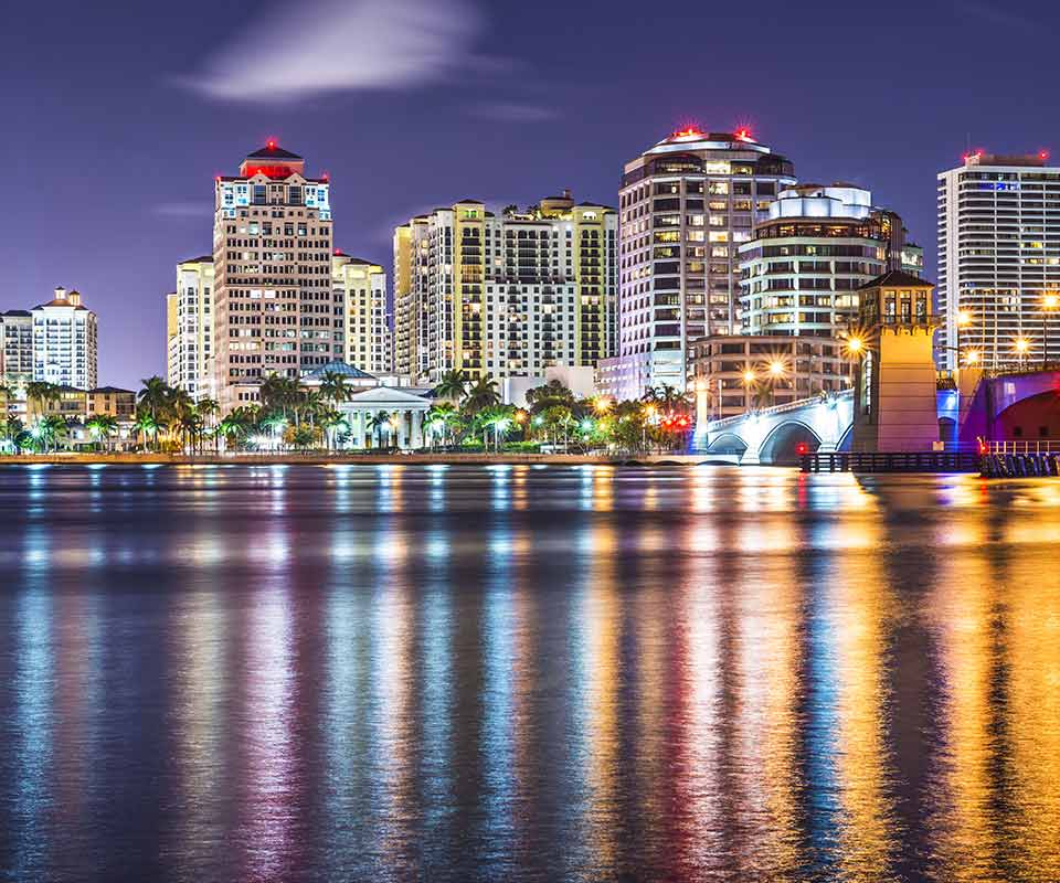 Palm Beach City at Night