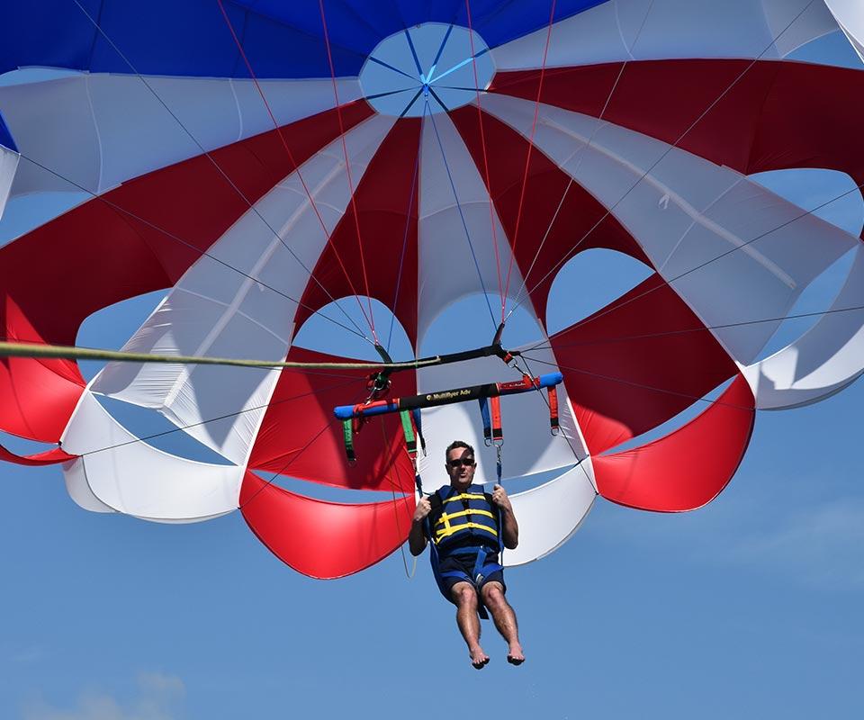 Guy parasailing