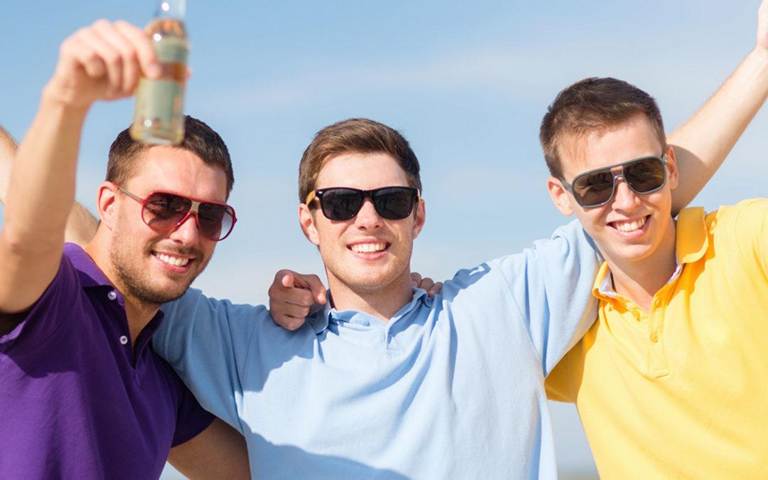 3 dudes celebrating