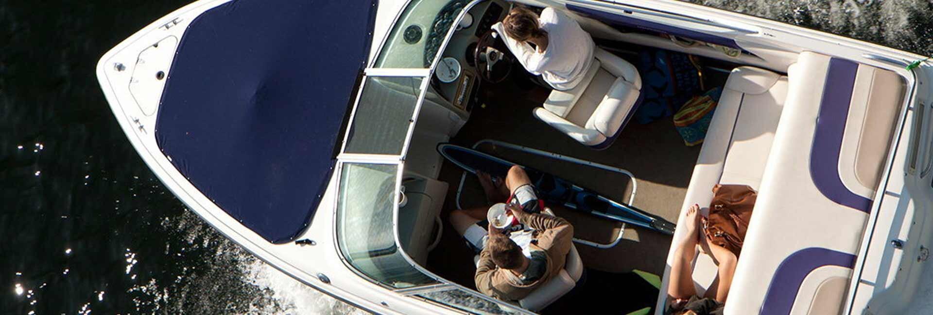 Couple boating