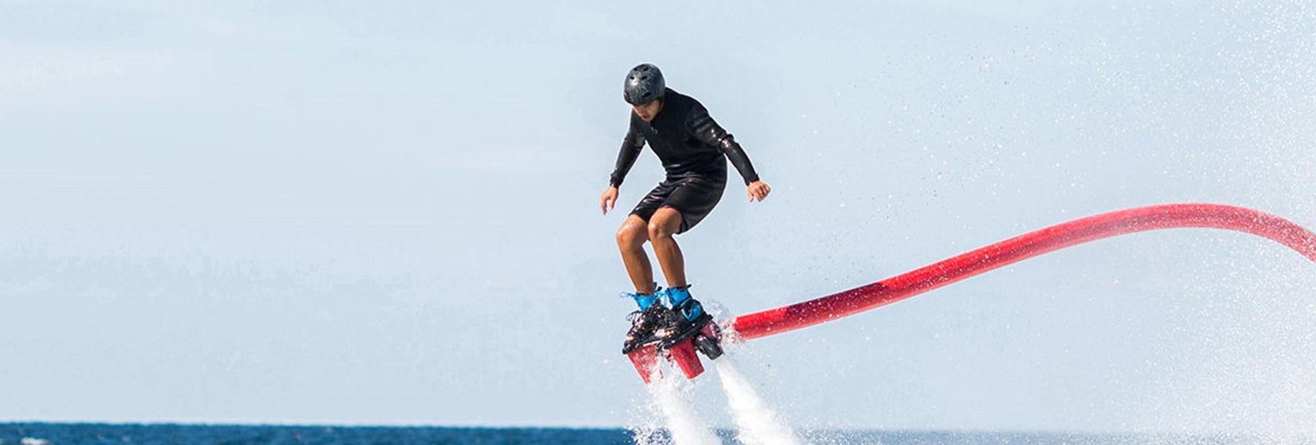 Dude flyboarding in West Palm Beach