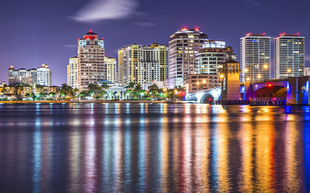 West Palm Beach Florida at Night