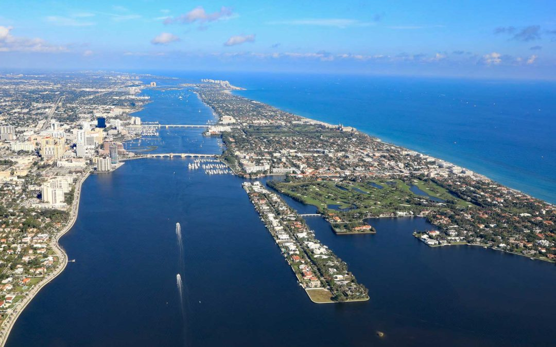 Aerial view of West Palm Beach Florida