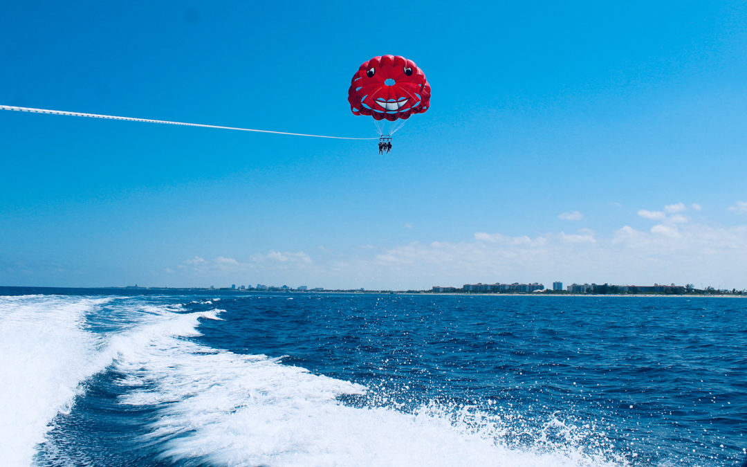 Couple parasailing in West Palm Beach