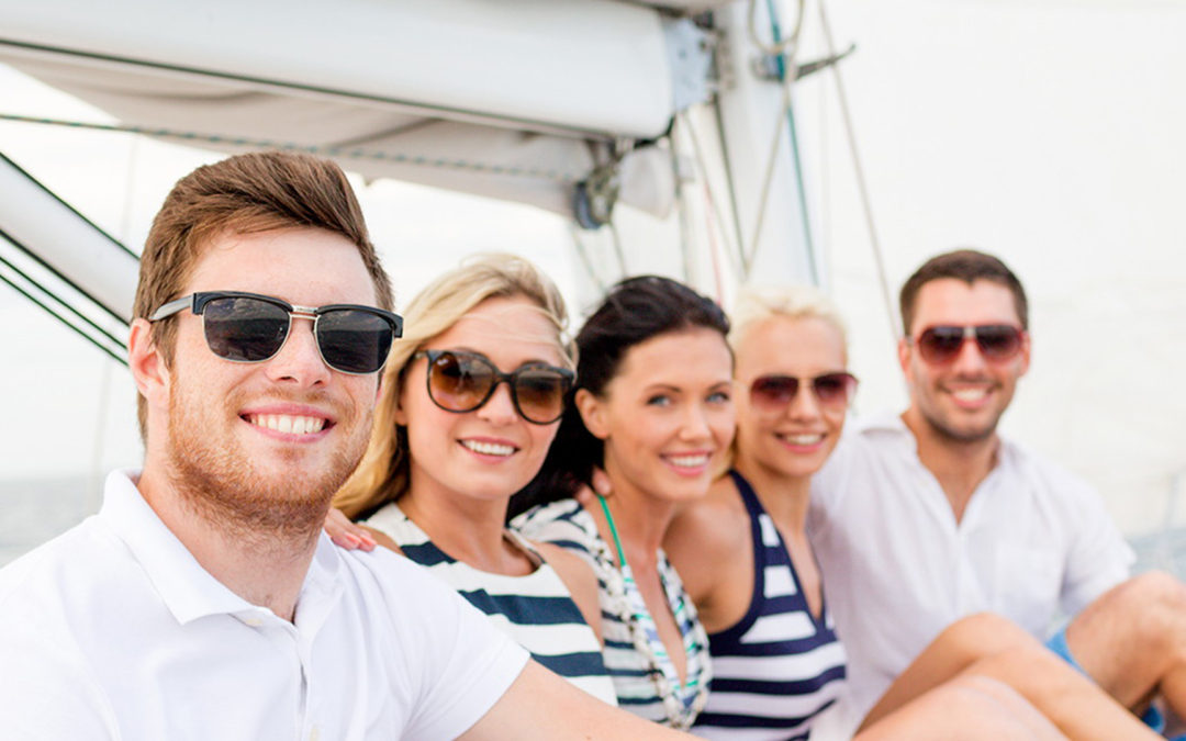 Friends on a sailboat