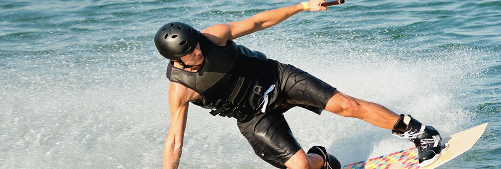 Dude wakeboarding