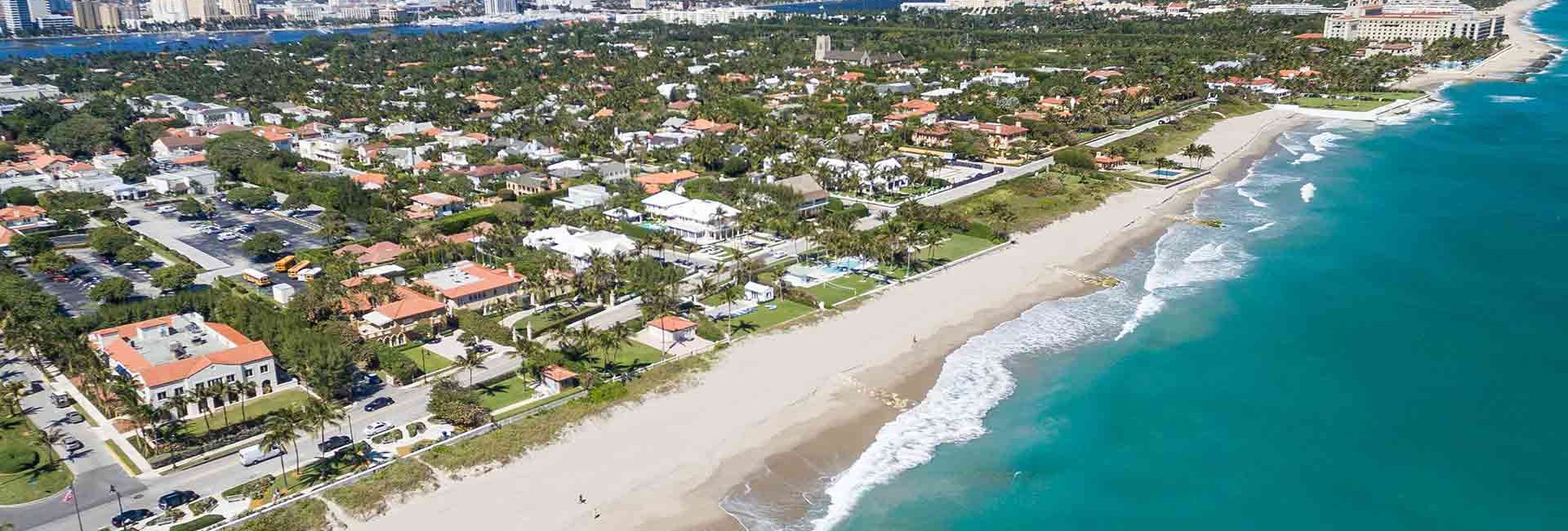 Aerial view of Palm Beach Florida