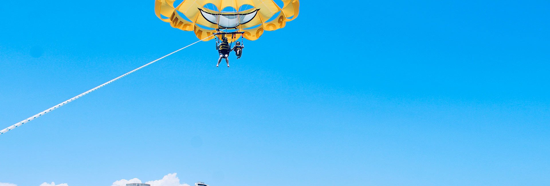 Yellow parasail