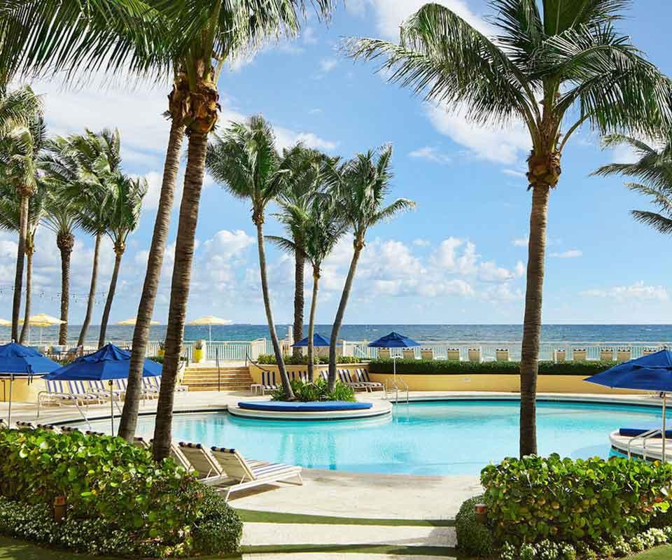 EAU Palm Beach Resort & Spa pool overlooking Atlantic Ocean