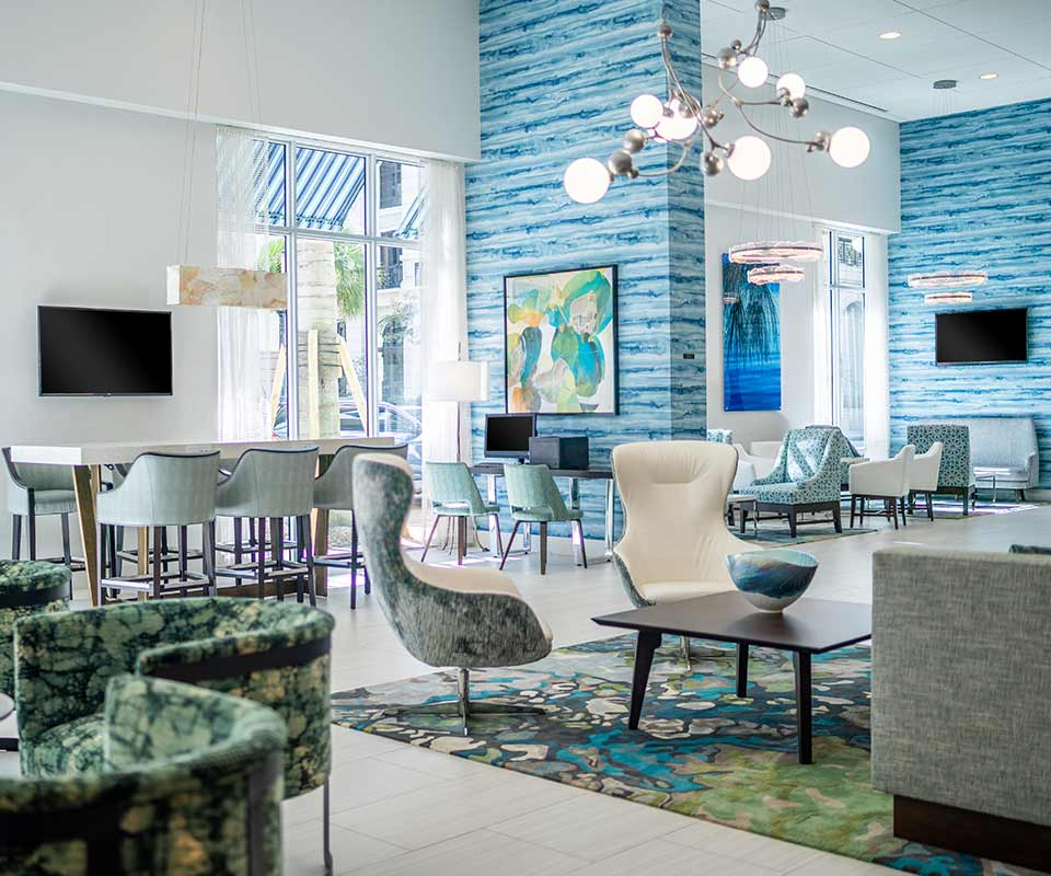 Hyatt Place Downtown West Palm Beach Lobby