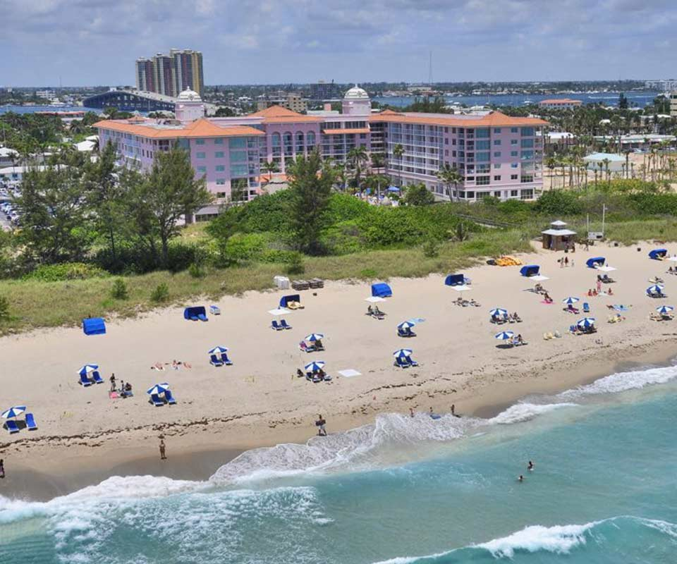 Palm Beach Shores Resort Aerial
