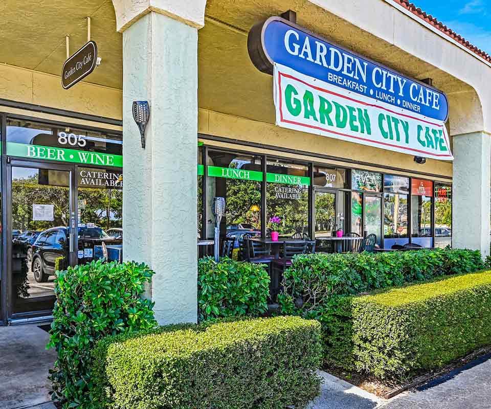Garden City Cafe Exterior